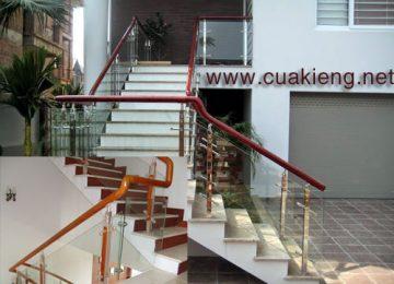 cầu thang cửa kính đẹp chất lượng 2018