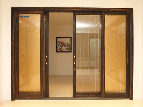 cua nhom van go1 - Cửa nhôm vân gỗ MS001