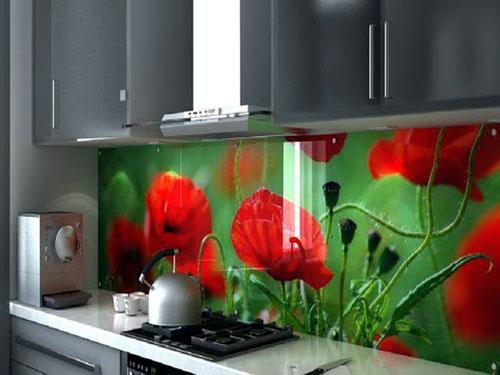 kinh op bep hoa van3 - Kính ốp bếp MS002
