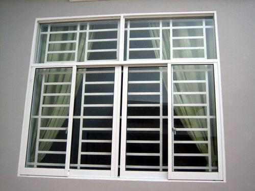 cua so truot lua 4canh2 - Thiết kế và thi công cửa sổ nhôm lùa 4 cánh