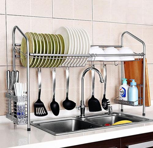 gia ke treo bep2 - Giá kệ bằng nhôm treo nhà bếp