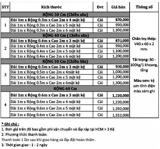 bao gia ke sat v lo da nang gia re tphcm - Báo giá kệ sắt V lỗ Đa Năng giá rẻ – Giá gốc tại Xưởng 2020