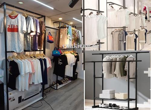 gia ke sat treo quan ao gia re - Giá kệ sắt treo quần áo shop thời trang uy tín 2021